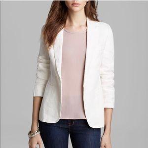 Joie Linen Blazer in White